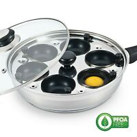 Eggssentials lightly used Egg Poacher 6 Egg Poaching Pan w/ Cups