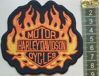H QUALITY- Harley_Davidson BARSHIELD FLAME BIKER Embroidered Patches Iron/Sew on