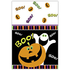Plastic Table-cover Pumpkin Ghost Boo Halloween Party Tableware Decoration