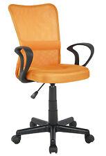 SixBros. Bürostuhl Drehstuhl Schreibtischstuhl Orange H-298F-2/2124