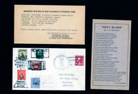 US Cover 1936 w/ Stamps & markings from Men War Shanghai