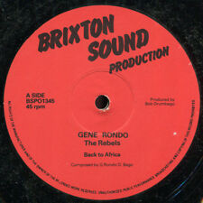"""Gene Rondo, The Rebels And Allies - Back To Africa UK Brixton Sound 12"""" Listen!"""