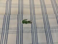 100% GENUINE DEVANLAY LACOSTE SHORT SLEEVE CHECK SHIRT IN SIZE 45 XXL FANTASTIC