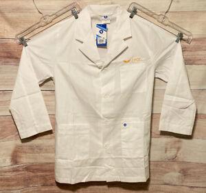 Spectrum Mens White Lab Coat Size M Long Sleeves Pockets FCC NWT LBB76