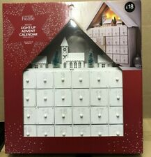 LIGHT UP WHITE HOUSE ADVENT CALENDAR CREATE YOUR OWN CHRISTMAS LED TREE SCENE