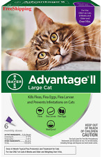 Advantage Ii Flea Control for Large Cats Over 9 lbs 6 Month - New ! FreeShipping