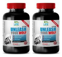 libido and test booster - UNLEASH YOUR WOLF 2170MG 2B - maca bulk supplements