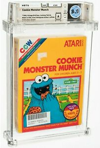 1983 COOKIE MONSTER CRUNCH ATARI 2600 SESAME ST. FACTORY SEALED A WATA 8.0