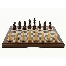 Dal Rossi Folding Walnut Chess Set 12 inch