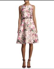 NWT Ted Baker London Clarbel Blossom Jacquard V-Back Dress Mid Pink TB 1 US 4