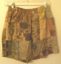Cotton Patchwork Shorts - vintage Bali patchwork - unisex size Small