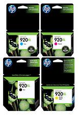 4 Packs HP 920XL Ink Cartridges Genuine For 6500 7000 7500