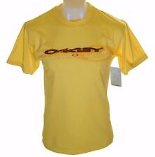 Bnwt Authentic Men's Oakley Lined T Shirt Small Short Sleeve Crew Neck Yellow