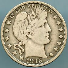 1915 Barber Half Dollar Fine plus