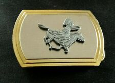 MOUNTED NATIVE AMERICAN WARRIOR HUNTER HORSE BOW & ARROW WESTERN BELT BUCKLE