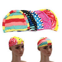 Elastic Fabric Protect Ears Long Hair Swim Pool Hat Swimming Cap For Adults HU