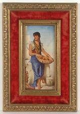 """Orange Seller"", Orientalist Porcelain Painting, Bohemia (?), Late 19th Century"