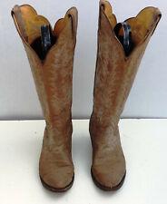 Womens Size 7 C Tony Lama Black Label Brown Western Cowboy Boots