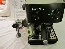 Starbucks Barista Saeco espresso machine fully refurbished glossy black SIN 006