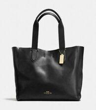 NWT Coach F58660 Black/Oxblood Pebble Leather Derby Tote Purse Handbag $298