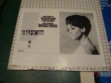 Original Poster - 1960's Nancy Wilson -Monsanto Tv Special - So Rare 23x18