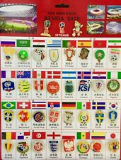 2018 World Cup 32Teams Badges Set 34 Pins Together Brand New Great Collection.