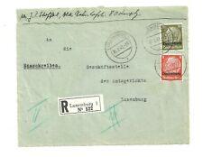 LUXEMBOURG 1941 GERMAN OCCUPATION REGISTERED DOMESTIC FRONT COVER   (U961)
