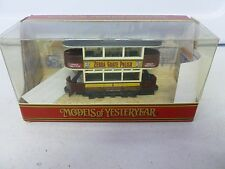 Matchbox Models of Yesteryear Zebra Grate Polish Double Decker Trolly