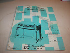 Harms Album for Hammond Chord Organ Hanert Sheet Music Book 1953 24pgs