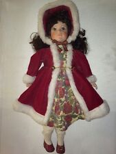 """Cute 19"""" Tall, Porcelain Baby Doll With Soft Body, Used For Sitting On Bed Only"""