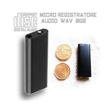 Piushopping 8GB Micro Mini Registratore Audio - Nero