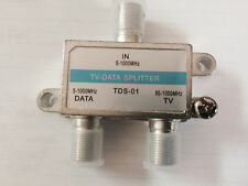 QTY 10: CATV 2-Way TV-DATA Splitter 87-1000Mhz (block return noise)