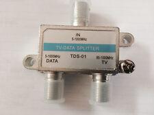QTY 10: CATV 2-Way TV-DATA Splitter 87-1000Mhz (block return noise)