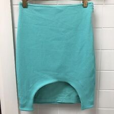 Designer Kookai Size 34 / 6  Mint Green Stretch Mini Skirt EUC