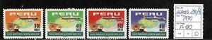 (56847) PERU AIR MAIL STAMPS #284/4 1970 MINT SET