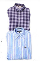 Faconnable Saks Fifth Avenue Threads Mens Shirts Blue Size M L Lot 2