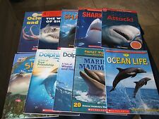 Lot of 10 Children's Books  Non-Fiction Ocean Animals