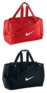 NIKE SWOOSH CLUB TEAM SPORTS HOLDALL BAG MEDIUM BLACK OR RED 52 LITRE RRP £26