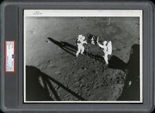 Apollo 11 1969 NASA Moon Type 1 Original Photo PSA/DNA *Flag Planting*