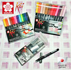 MADE IN JAPAN Sakura Koi Coloring Brush Pen Set with Blender Manga Comic - ALLEY