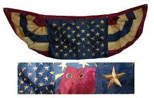 Mancha de té 1.5x5 EE. UU. American Bordado Bandera de nylon de 2ply 1.5' X Ventilador de banderines de 5'
