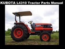 Kubota L4310 Tractor Parts Manuals -580pg for L 4310 Dt Gst Hst Service & Repair