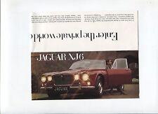N°7312 / dépliant automobile JAGUAR XJ 6  english text   12.68