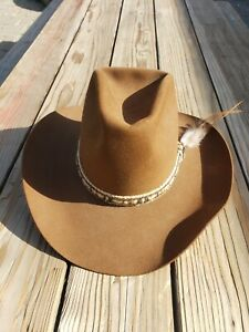 RESISTOL STAGECOACH SELF-CONFORMING COWBOY HAT PREOWNED 7 1/4 STAGECOACH