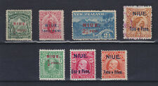 NIUE 1902/1911, 7 STAMPS, MOSTLY MINT