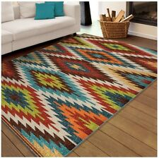 5x8 Southwestern Area Rug Indoor Outdoor Carpet Mexican Style Living Room Decor