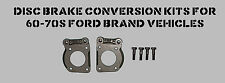NEW Ford KH Style Caliper Brackets Mustang  65 66 67 with caliper shoulder bolts