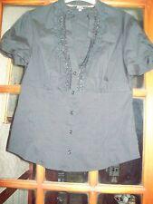 STAR by Julien Macdonald Short Sleeve Black Blouse Size 12