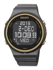 BRAND NEW SEIKO STP011 Gold Digital Chronograph Ion Plated Stainless Steel Watch