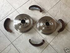 SKODA OCTAVIA MK 1 98-04 TWO REAR BRAKE DRUMS AND SET OF FOUR BRAKE SHOES